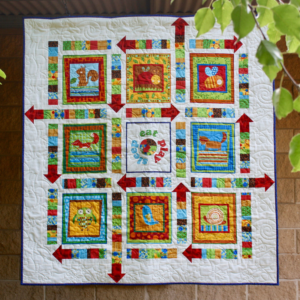 Baby Quilt Patterns.Spin To Play Pdf Baby Quilt Pattern Bloom