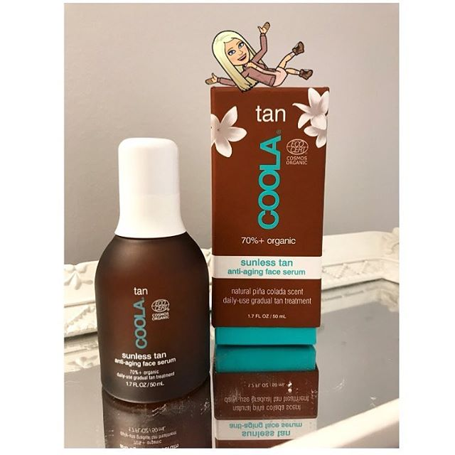 My lovely clients keep asking why my skin looks darker and this is the answer why 💋 my wonderful friend introduced me to this gradual sunless tan by @coola its specifically made for the face but I also use it on my neck and a little on the chest so it blends nicely. There no weird scent (it actually smells like piña colada) and is an anti aging serum so there's no weird feel to the skin! . . #sephora #sephorahaul #coola #sunlesstan #beauty #beautybloggers #follow #instagram #instapic #tuesday #tuesdaymotivation #summer #spring #pinacolada #bethesda #rockville #md #chevychase #potomac