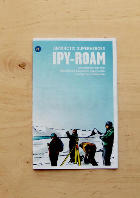 """Antarctic Superheroes"" comic spread"