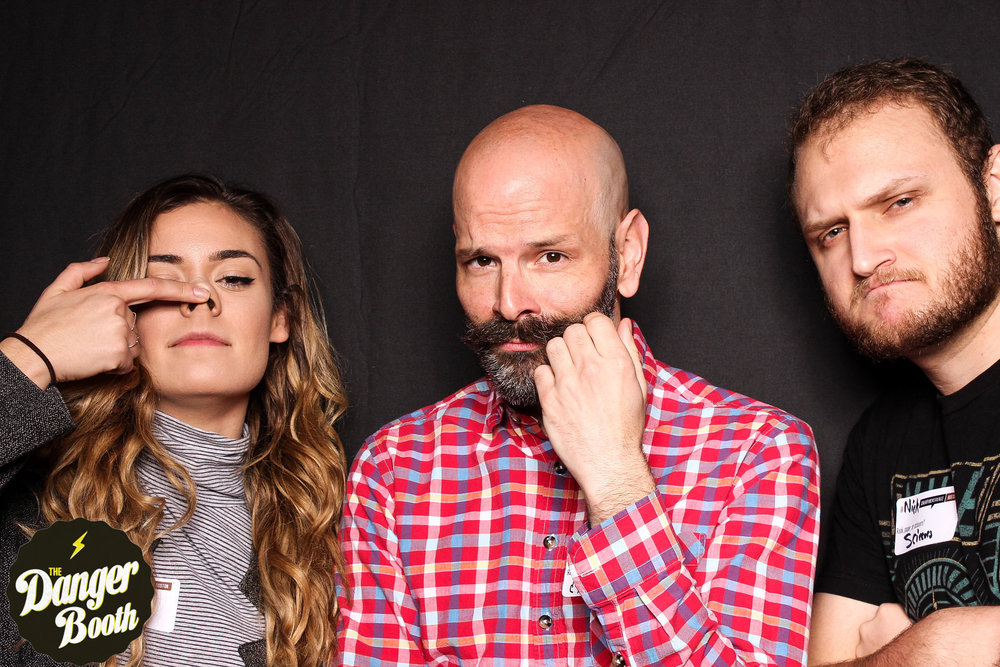 We clearly take ourselves verrrrry seriously. (l to r) Nicole D'Ambrosio, me, and Nick Bergquist. (Photo courtesy of    The Danger Booth   )