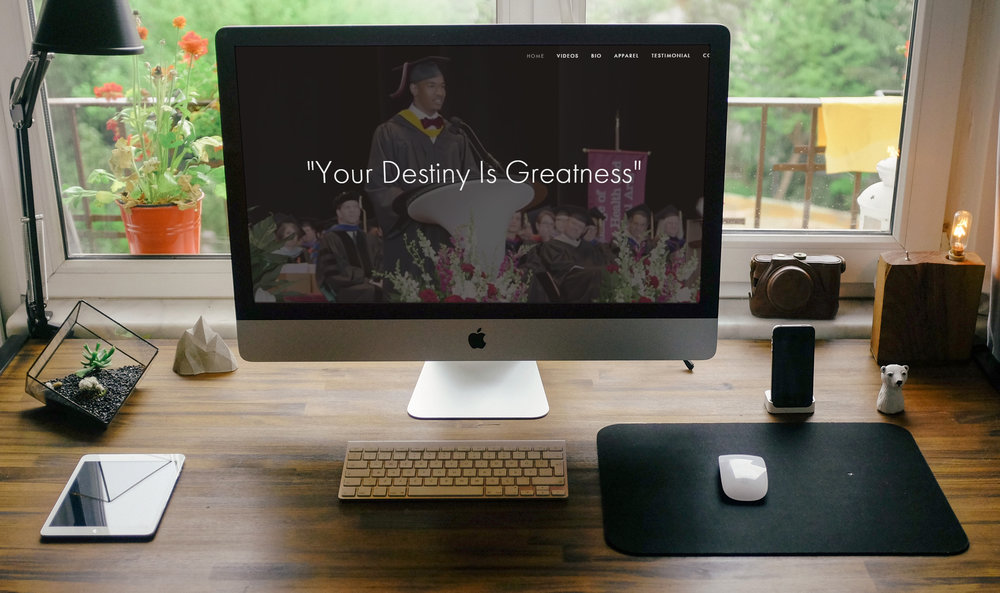 Nicholas Christian's Destiny is Greatness Website Design