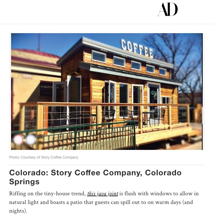 Architectural Digest Names A ROBIN PASLEY DESIGNS Project The Most  Beautiful Coffeeshop In State Of Colorado