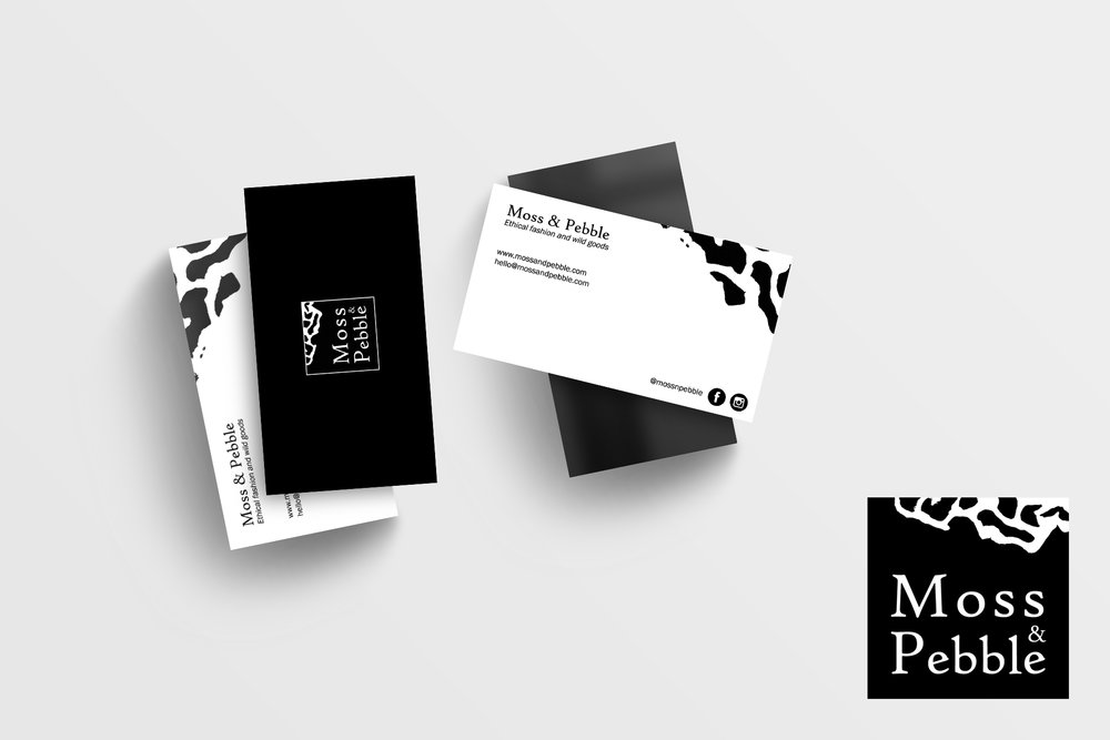 Moss & Pebble - Logo, business card and web design