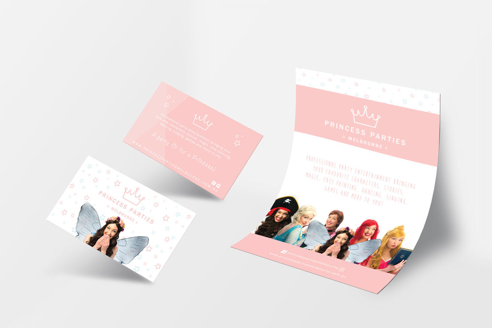 Princess Parties Melbourne / Photography and print design
