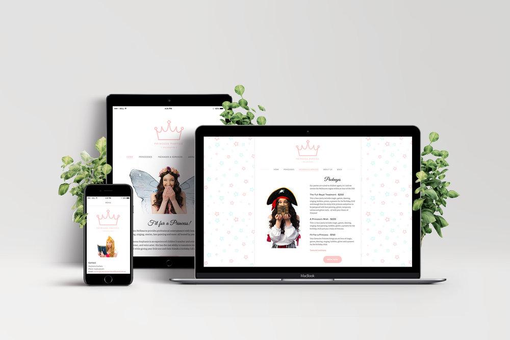 Princess Parties Melbourne / Web design
