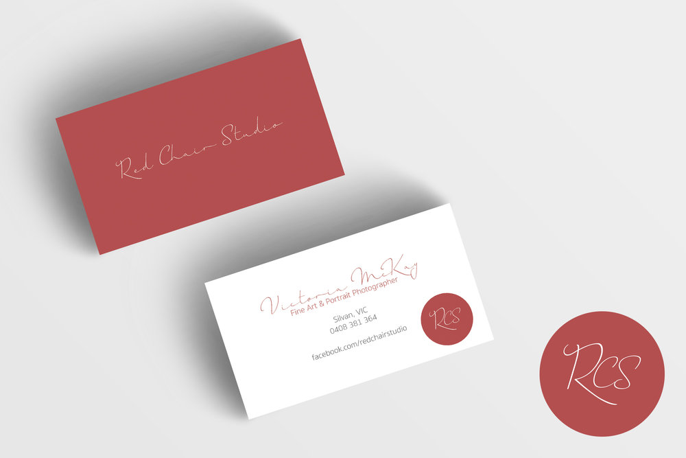 Red Chair Studio / Logo and Business Card Design