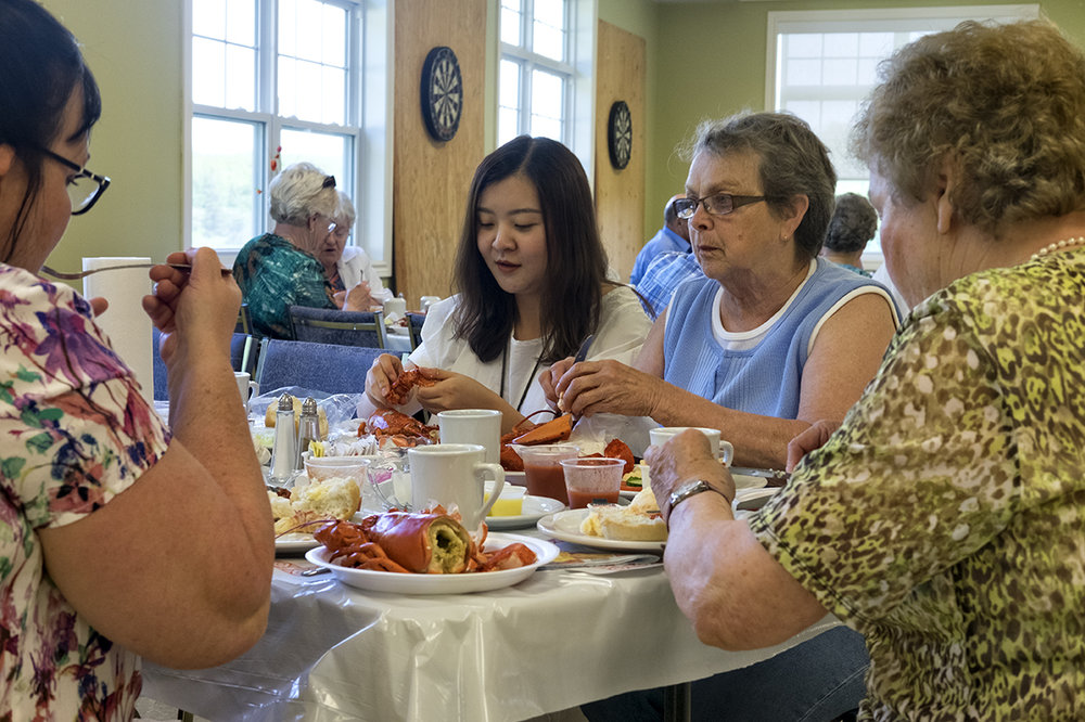 A community lobster supper in Marion Bridge, Cape Breton.