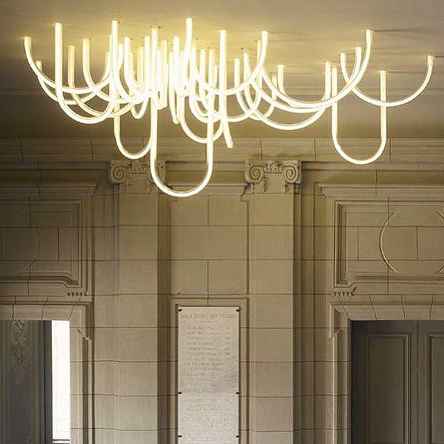 Delightful. #ledlights #mathieulehanneur #chateauborely #pierreyovanovitch #parisinteriors #nendo #stephanjulliard #pendantlights #lanterns #roost #bamboocloud #poliform