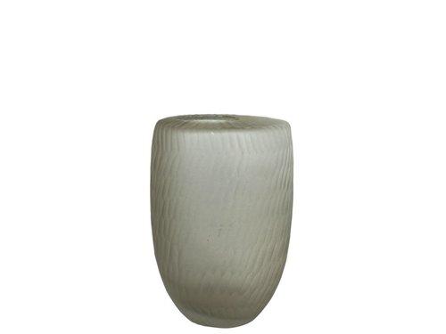 Ridge Glass Flat Top Vase Sand Maker
