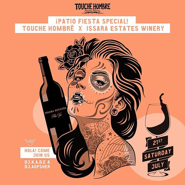 Family-owned winery @issaraestateswinery is coming its way with loads of fine bottles just to take over for one-night only collab at Touche Hombre! . Two glasses of Issara wines to sip along the beats of DJ K.A.D.E & DJ AOPSHER, while we'll keep you well-fed with unlimited mini tacos, ensalada & a la plancha. . If you didn't check in our newly polished upstairs bar, you got a chance! . 02-392-7760 holabkk@touchehombre.com