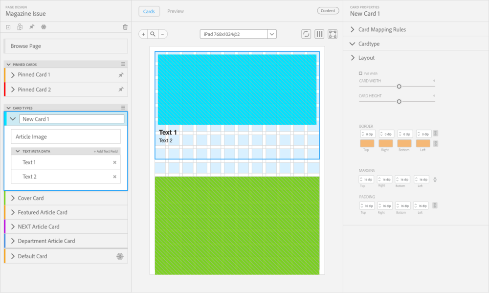 Example use of how the panels are used in mockups designed by other members of the team.