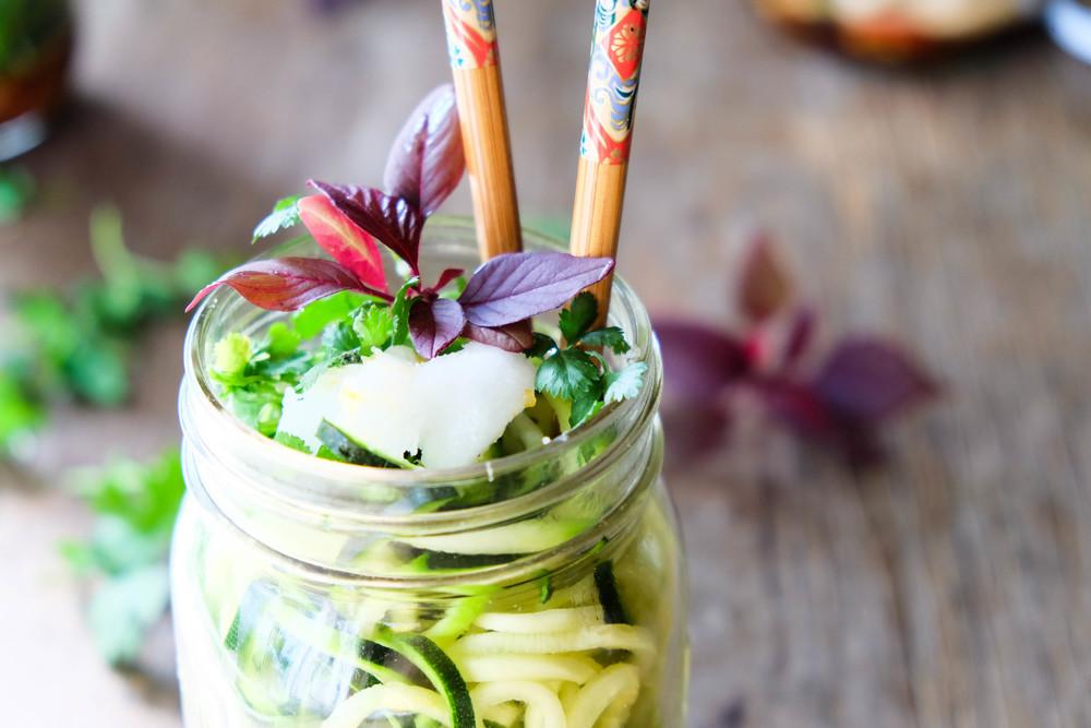 Healthy noodle jars