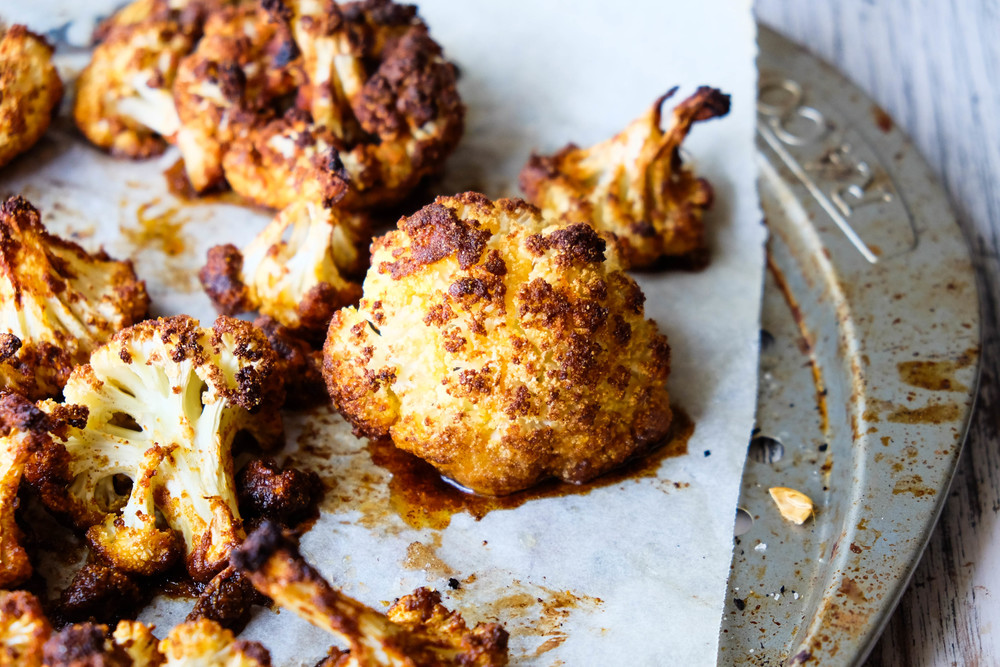 Healthy spiced cauliflower