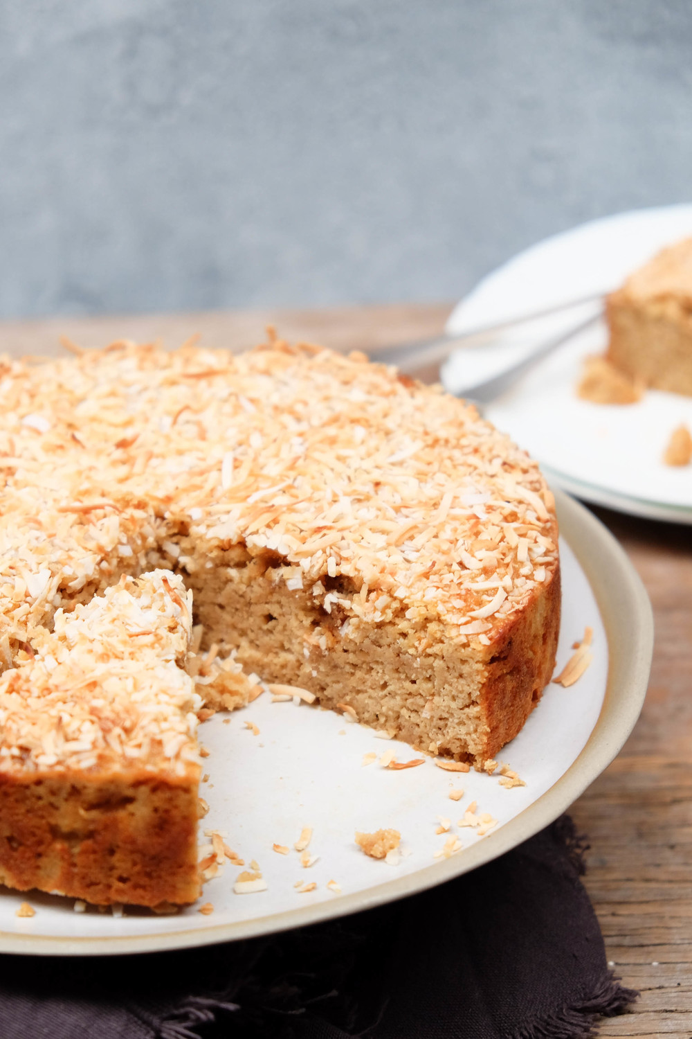 Healthy coconut and almond cake