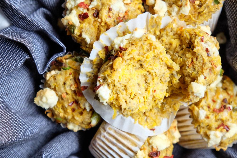 Easy savoury butternut pumpkin muffins