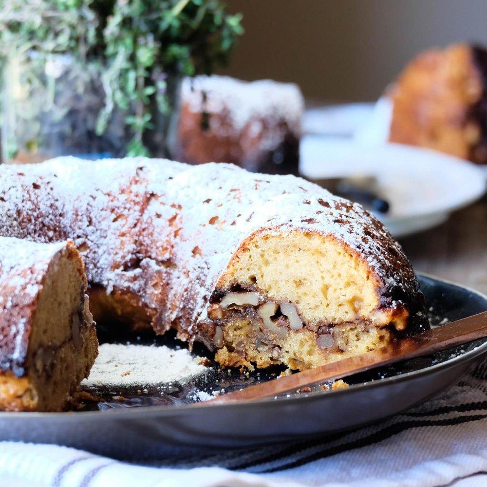 Christmas cinnamon cake