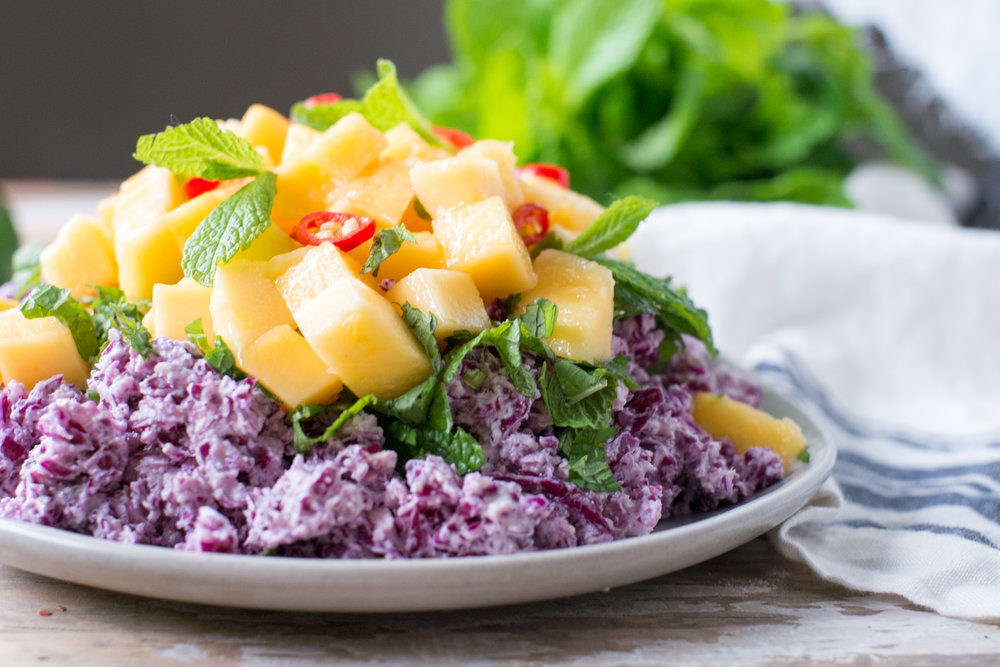 Super easy and healthy mango slaw