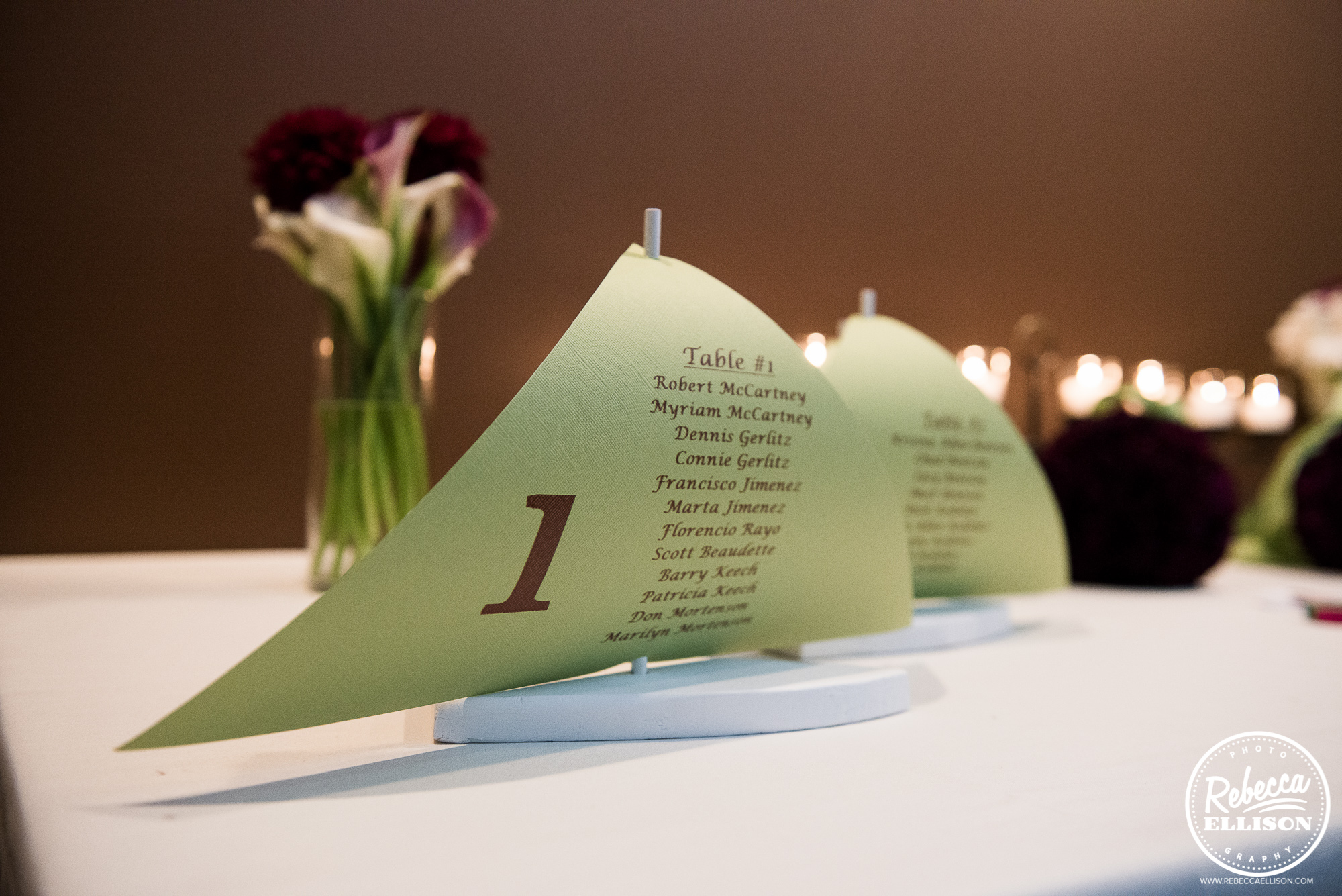 wedding seating chart on boat