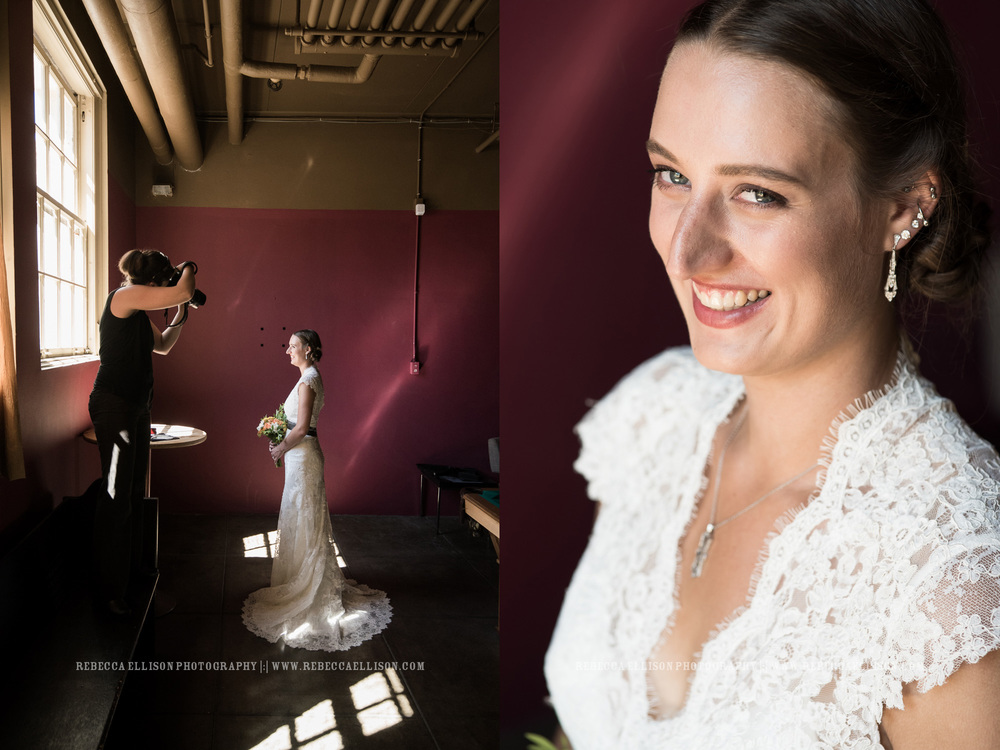 Wedding behind the scenes : bridal portrait
