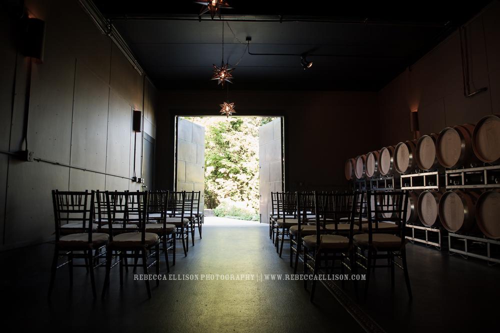 indoor ceremony |JM Cellars Wedding | Intimate Winery Wedding | Seattle Wedding Photographer | www.rebeccaellison.com