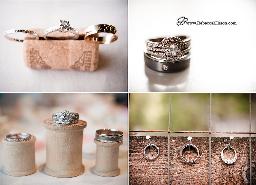 a collection of wedding ring photographs