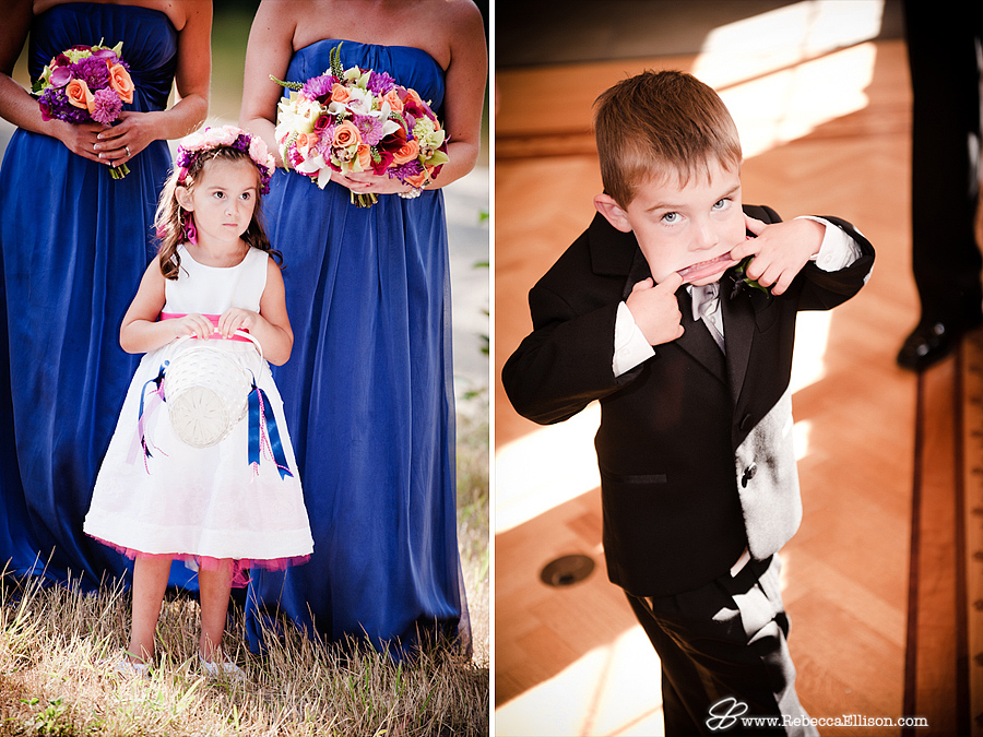 flowergirl and ringbearer being cute