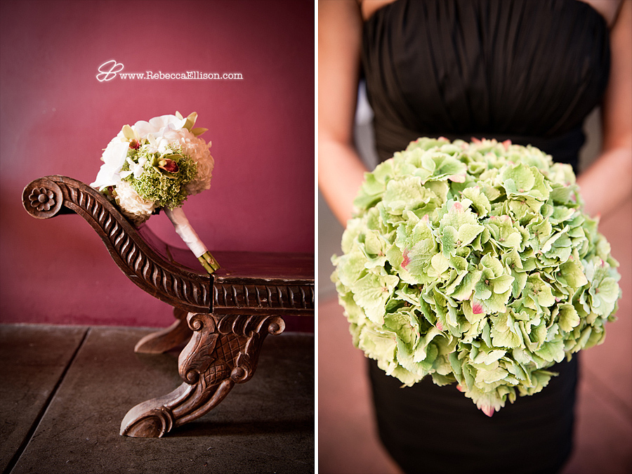 bridal bouquet and bridesmaids bouquet