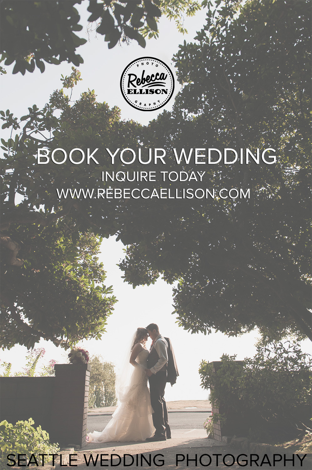 Wedding special for 2016 clients. Book Rebecca Ellison Photography for your Seattle wedding | www.rebeccaellison.com