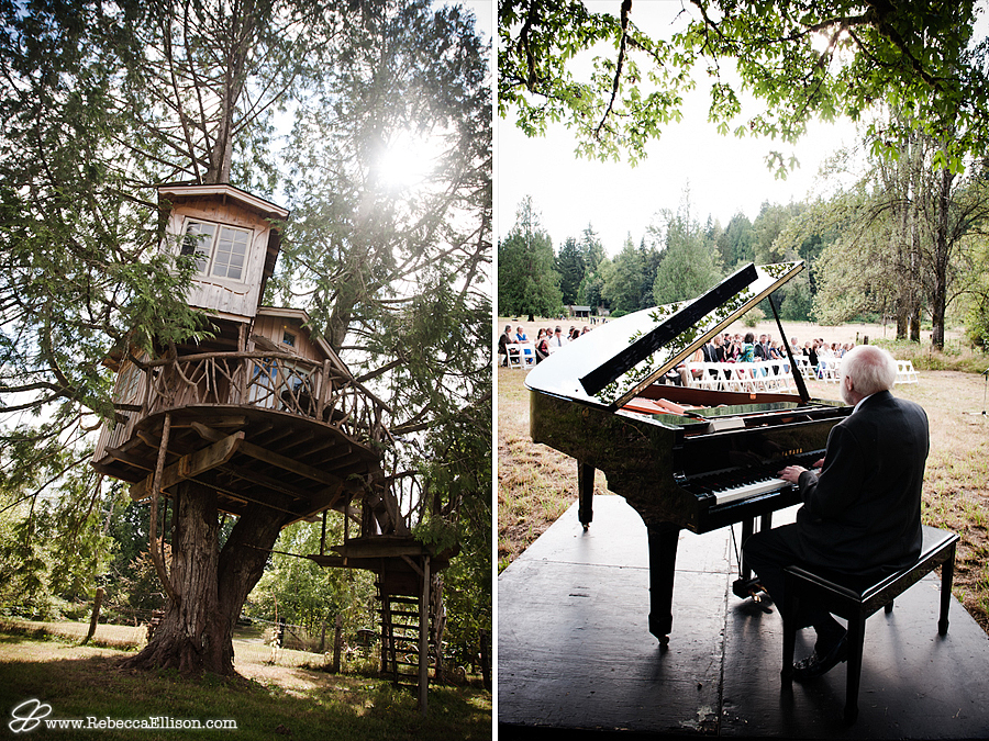 a grand piano wedding ceremony on river front