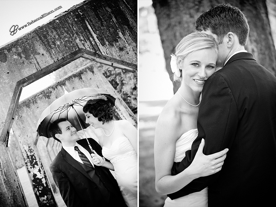 b&W bridal portraits as Gas Works and Lincoln Park in West Seattle