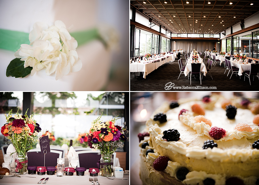 reception details and wedding cakes