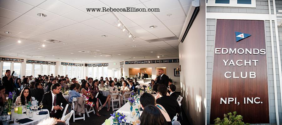 Edmonds Yacht Club wedding reception