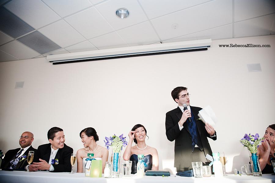 toast at Edmonds Yacht Club wedding reception