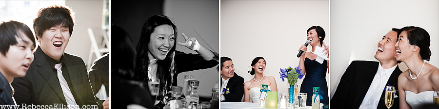 guest reactions to wedding toasts at at Edmonds Yacht Club wedding reception