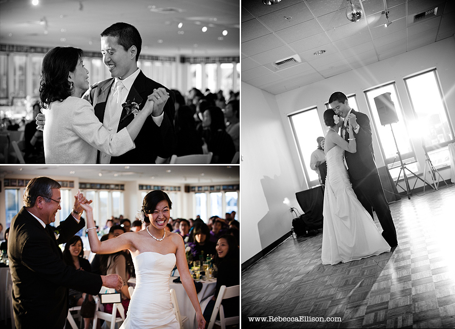 first dance at at Edmonds Yacht Club wedding reception
