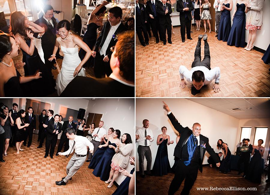 dancing  at Edmonds Yacht Club wedding reception