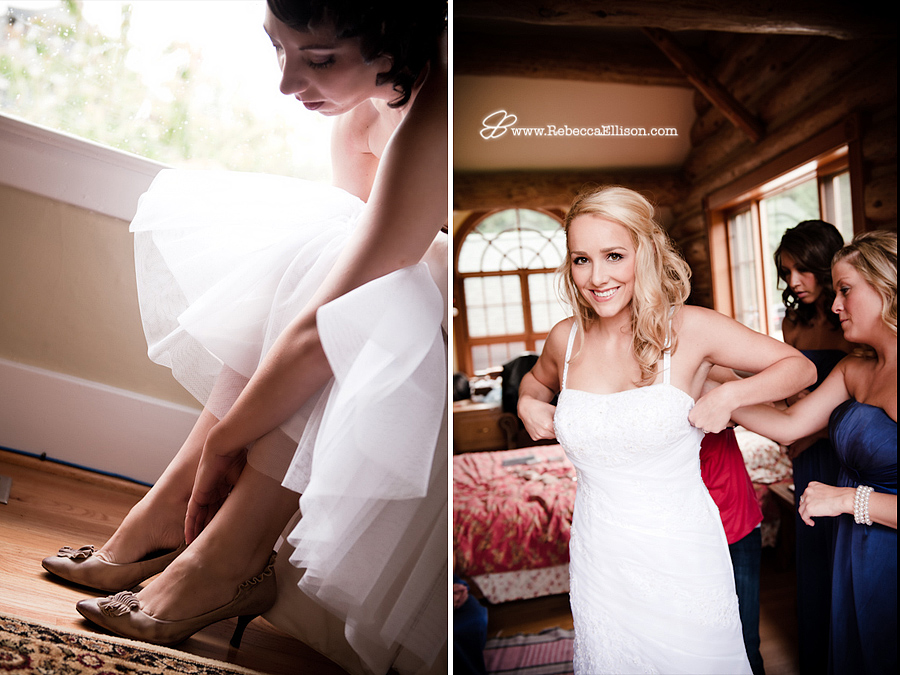 bride gets ready for her seattle wedding