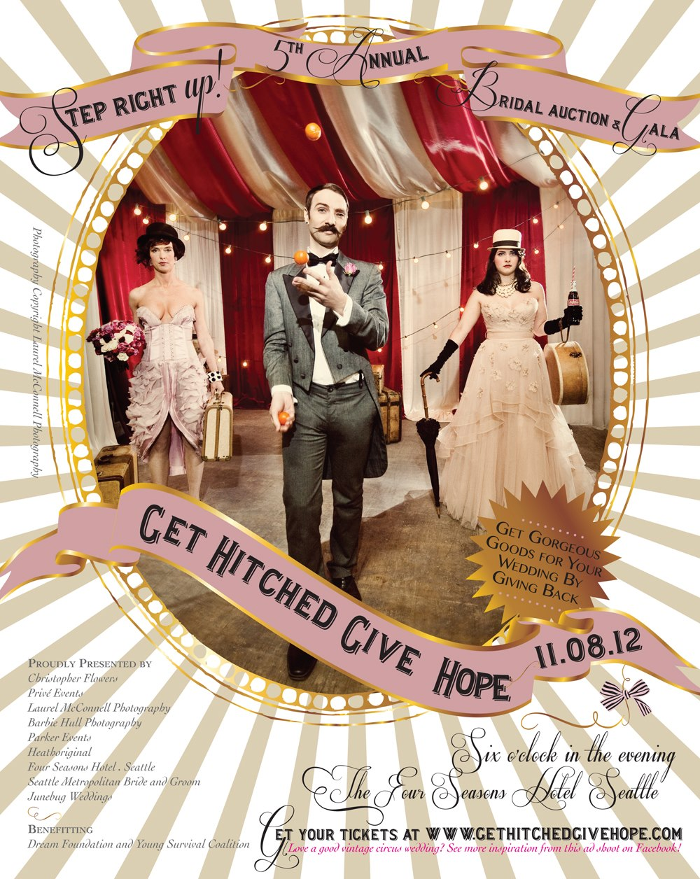Seattle's premire wedding event and charity Get Hitched Give Hope