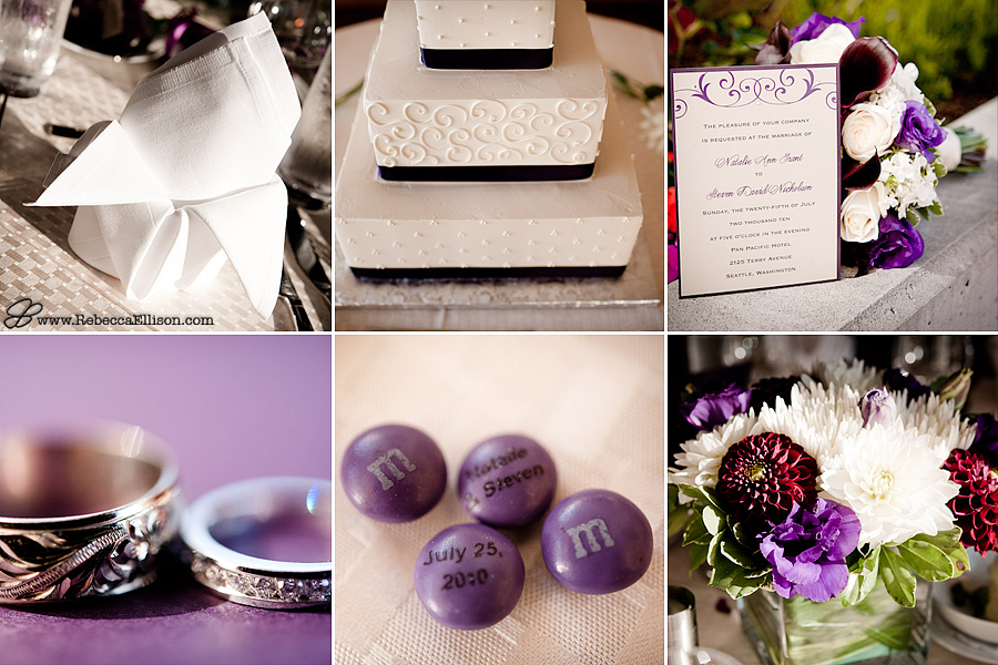 a purple themed wedding