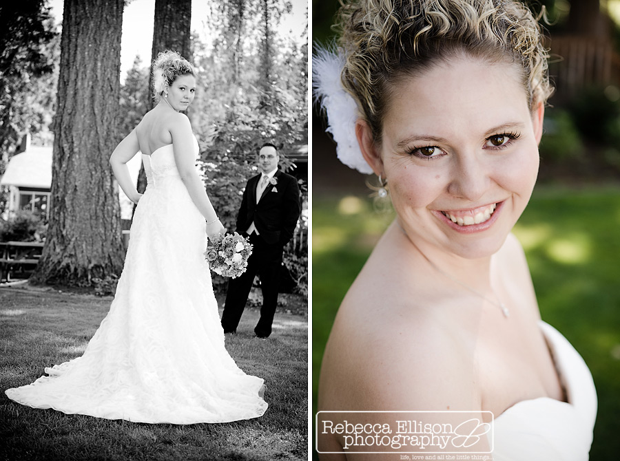 bride portraits on beach of Alderbrook resort
