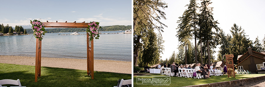 beach ceremony at alderbrook resort
