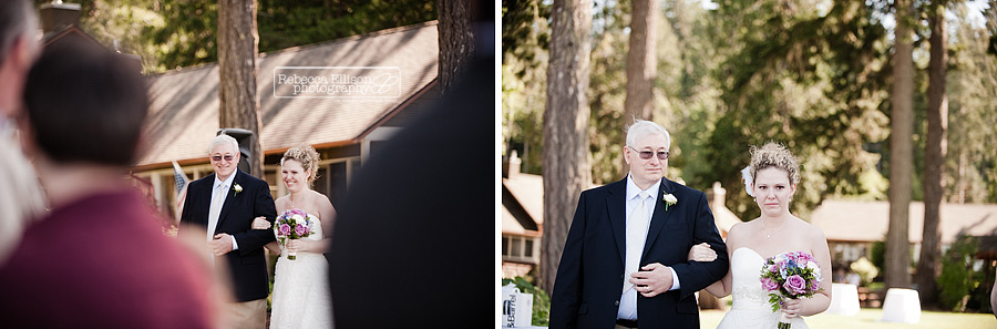 alderbrook outdoor beach wedding ceremony