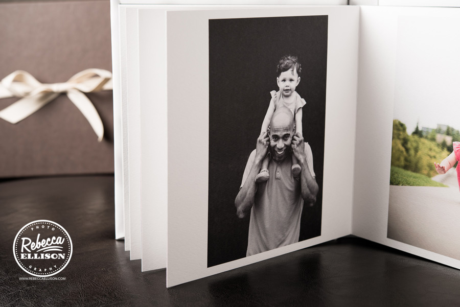 A beautiful way to display your memories with a custom photo album from Rebecca Ellison photography