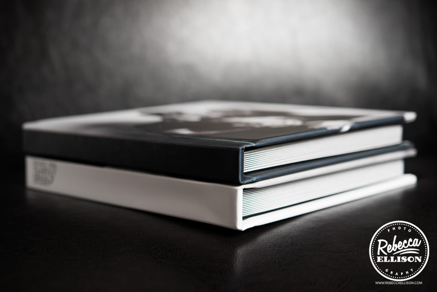 beautiful custom signature session portrait albums, a product offered by Seattle photographer Rebecca Ellison