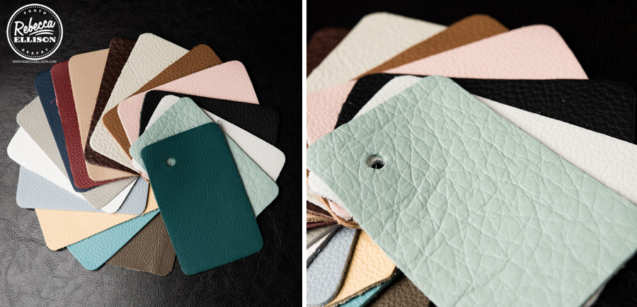 Wedding Album cover swatches from Rebecca Ellison Photography