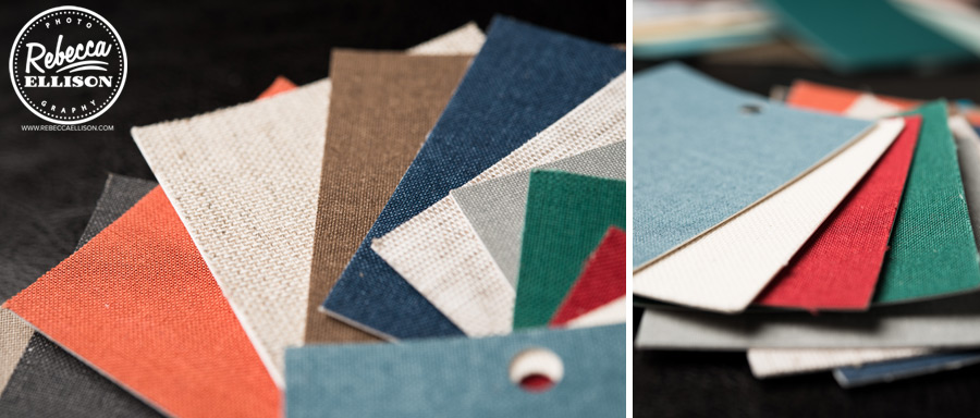 Wedding Album color swatches from Rebecca Ellison Photography