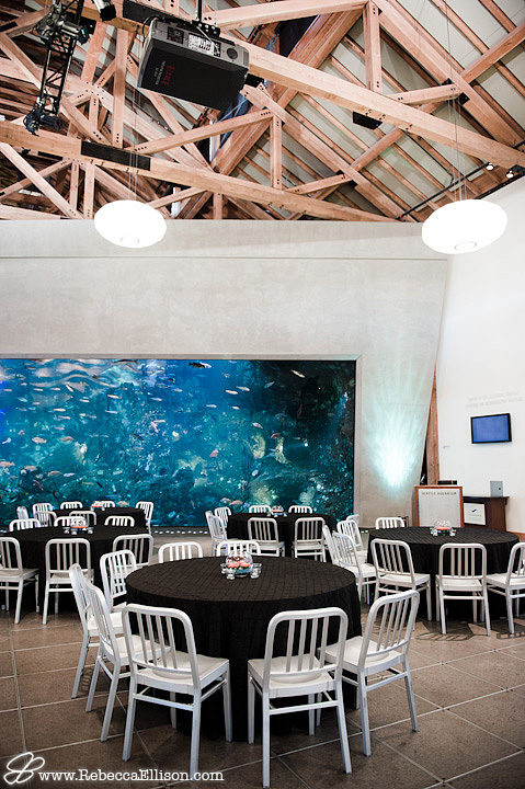 Reception room in Seattle Aquarium