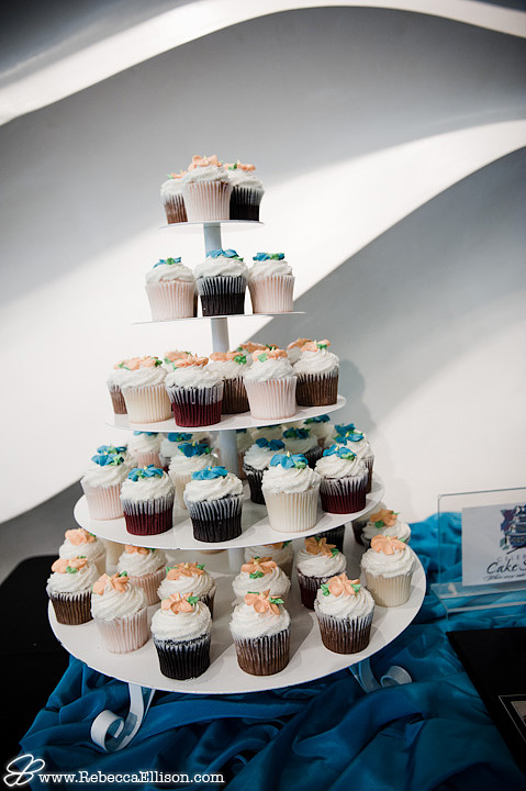 A tower of cupcakes from Celebrity Cake Studio