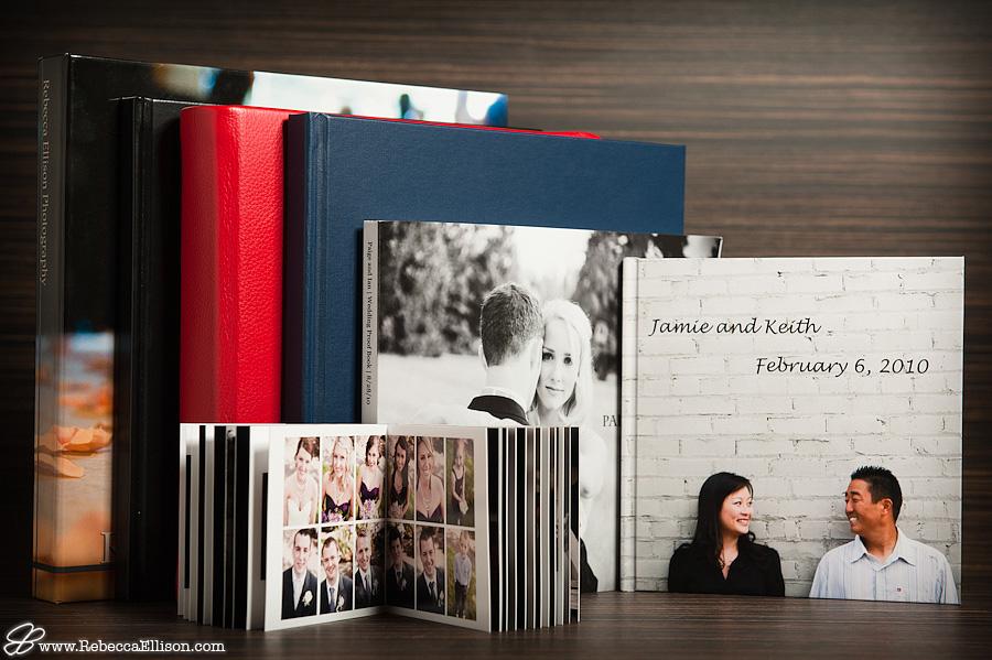 Rebecca Ellison Photography wedding album products