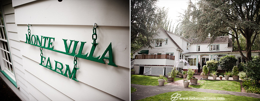Bothell wedding venue, The MonteVilla Farmhouse, photographed by Bothell wedding photographer Rebecca Ellison